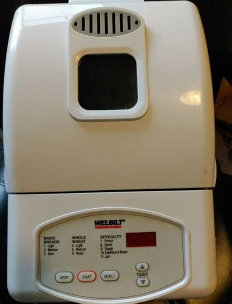 We did not find results for: Welbilt Bread Machine 1Pound Recipes / WELBILT THE 1 HR. 2 LB.BREAD MACHINE MODEL #ABM8200 MINT ...