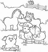 Farm Animal Coloring Pages Printable Everfreecoloring sketch template