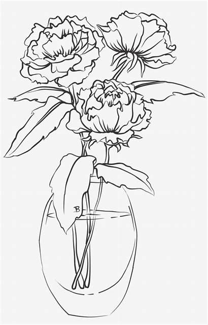 Vase Flower Drawing Single Transparent Pngkey