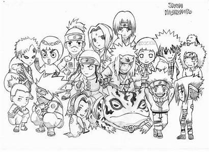 Coloring Chibi Naruto Pages Coloriage Anime Gambar