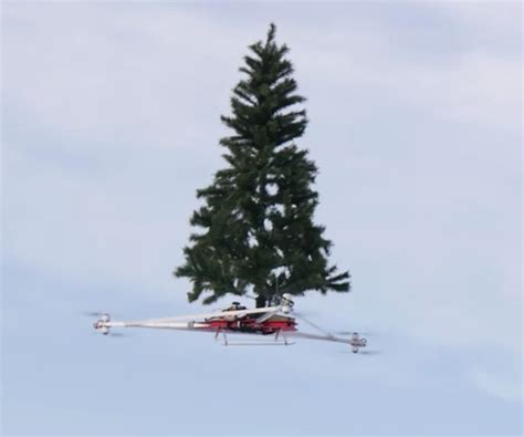 flying christmas tree
