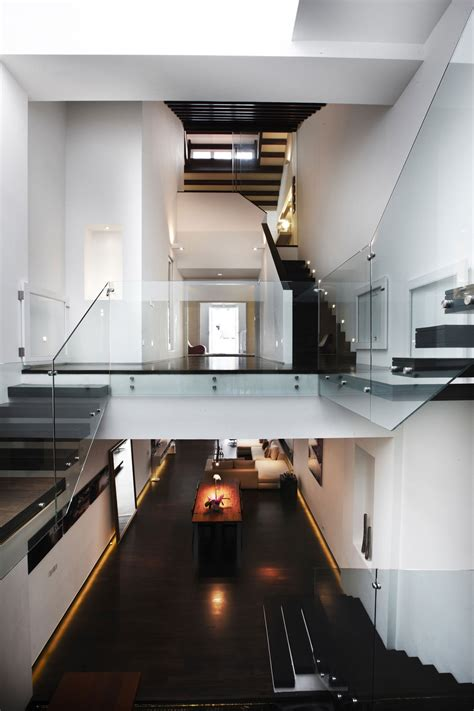 high ceilings modern stairs shop house renovation