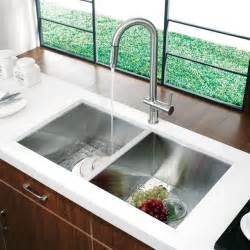 faucets kitchen sink vg14008 32 quot undermount stainless steel kitchen sink and faucet modern kitchen sinks
