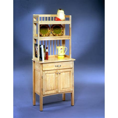 home styles  wood bakers rack  kitchen