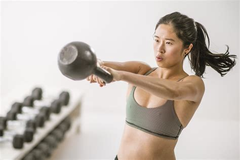 kettlebell workout cardio strength minute swings fat hiit loss popsugar