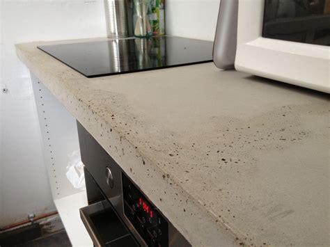 beton pour plan de travail cuisine plan de travail béton brut de décoffrage
