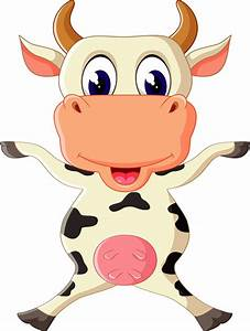 Cartoon baby cow vector illustration 03 - Vector Animal ...
