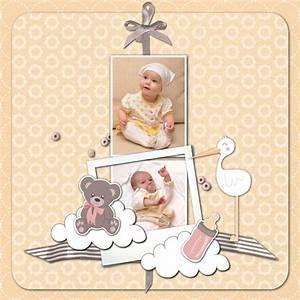 Album Photo Naissance Fille : modele scrapbooking bebe fille ~ Dallasstarsshop.com Idées de Décoration