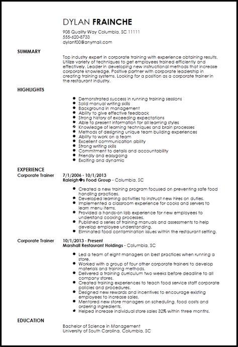 personal trainer resume exle 24 trainer resume exle 28 images personal trainer resume