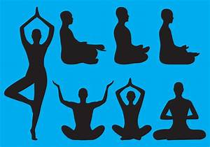 Meditation Silhouettes - Download Free Vector Art, Stock ...