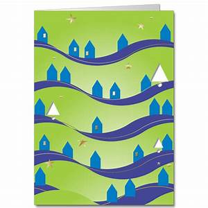 Discount business holiday cards hill houses nouveau for Discount business holiday cards