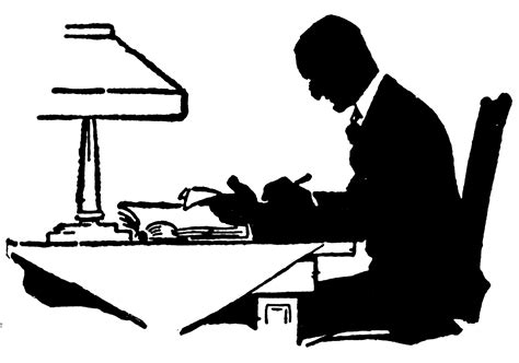man writing clipart