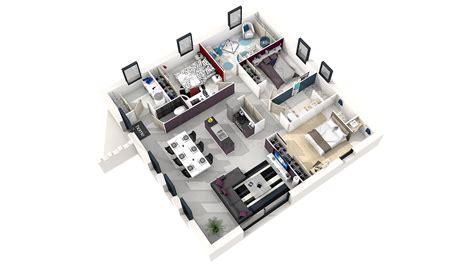 plan de chambre 3d plan de construction de 3 chambre colombes 3327