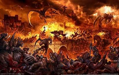 Fantasy Epic War Battle Pc Wallpapertag