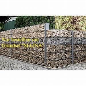 Gabionenzaun Mit Holz : gabionen anbausets selina zum aufschrauben 200 70 ~ Lizthompson.info Haus und Dekorationen