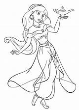 Jasmine Coloring Pages Princess Mermaid sketch template