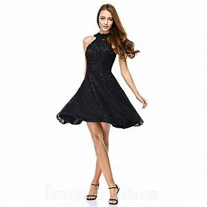 australia cocktail party dress black a line jewel short With shein robe de soirée