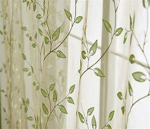 sheer leaf pattern drapes Charming Country Style