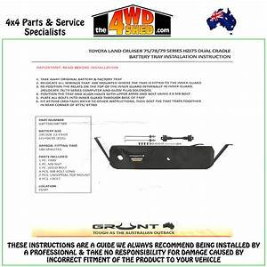 75 Series Landcruiser - Dual Battery Tray