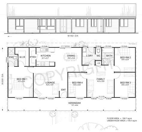 Metal Building Floor Plans 4 Bedroom Home