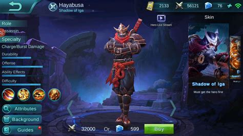 Quote Mobile Legend Hayabusa mobile legend gaming the history of quot hayabusa quot the