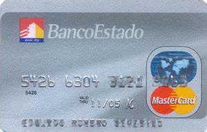 Tarjeta de Banco: Banco Estado (Banco del Estado de Chile ...