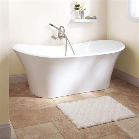 Bathroom Ideas White Free Standing Soaking Bathtub With