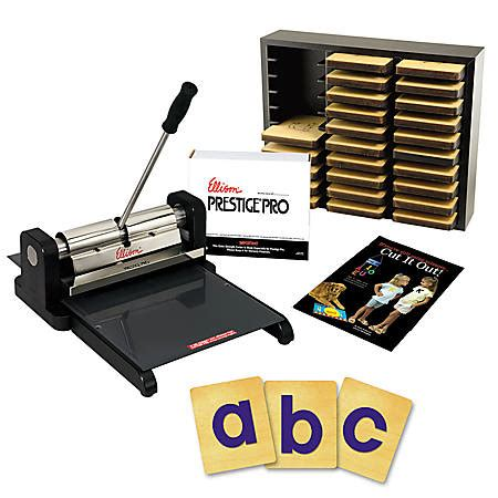 letter cutting machine ellison die cut machine starter set prestige pro with