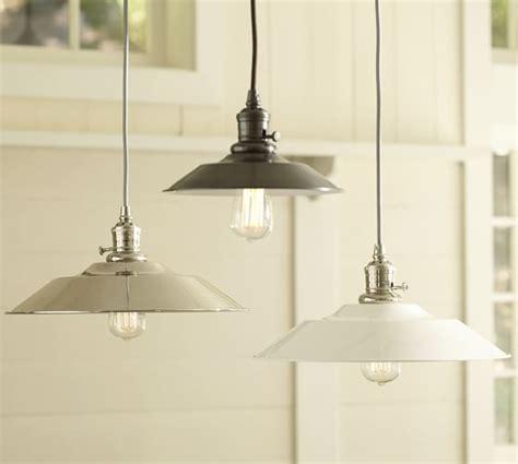 pottery barn kitchen lighting pb classic metal flared pendant pottery barn 4379