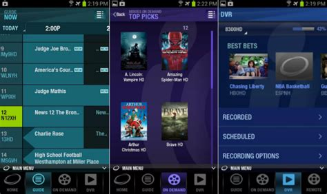 optimum app for android cablevision expands cloud dvr storage list of supported