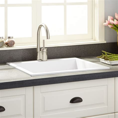 white composite kitchen sinks 22 quot holcomb drop in granite composite sink cloud white 1278