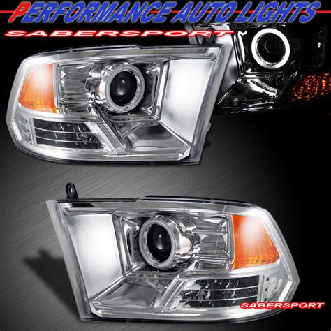 2009 2012 dodge ram 1500 ccfl halo projector headlights w