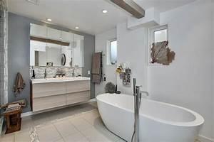 jolie maison moderne a la decoration eclectique vivons With salle de bain design avec décoration de bureau originale