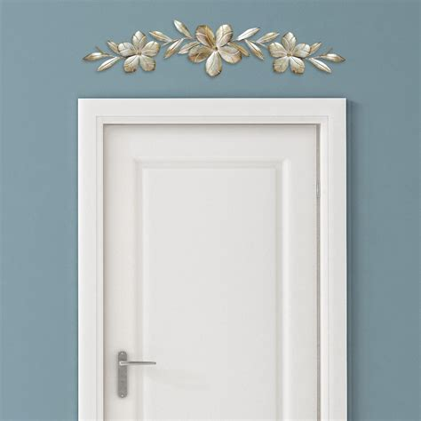 wall decor chagne flower over the door wall d 233 cor stratton home decor