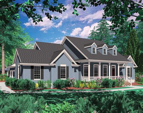 country plan covered porch architectural designs house plans