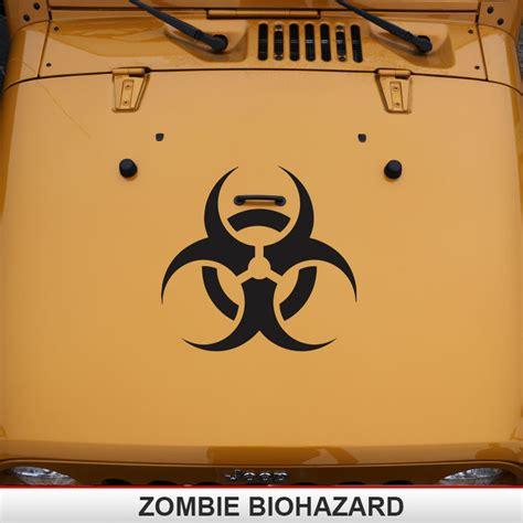 zombie jeep decals zombie bio hazard hazmat hood