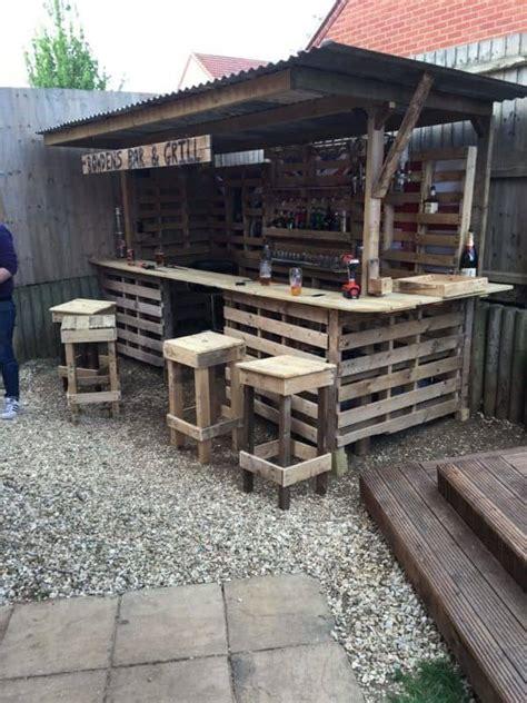 the ultimate garden bar using pallets pallet