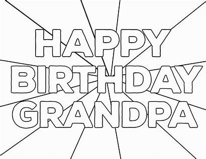 Birthday Happy Coloring Pages Printable Mommy Grandpa