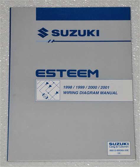 manual repair free 1995 suzuki esteem head up display 1998 2001 suzuki esteem electrical wiring diagrams shop manual gl glx 1999 2000 factory