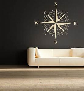 compass rose vinyl wall decal by empire city studios With modern wall decals