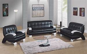 living room design black leather sofa home design ideas With black furniture living room ideas