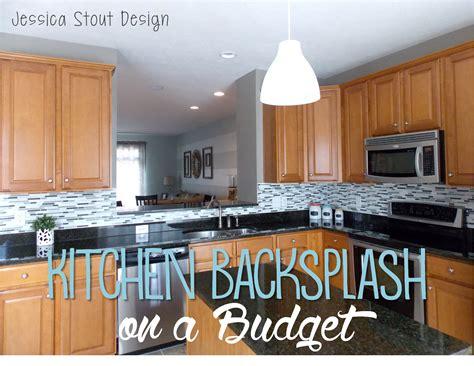 Backsplash On A Budget :  Kitchen Backsplash Install