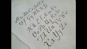 how to write cursive fancy letters - easy version for ...