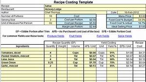 image gallery kitchen food costing template With chef template resource