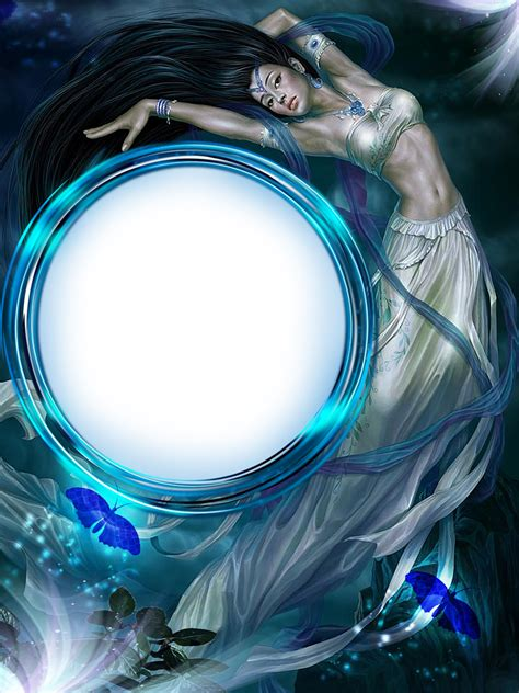 blue fantasy transparent frame gallery yopriceville