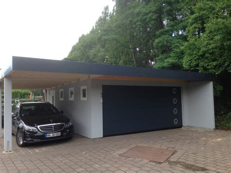 Garagencarportkombination Als Fertiggarage