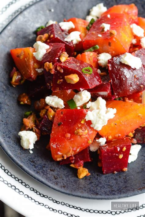 Roasted Beets Pistachio And Goat Cheese Salad  A Healthy