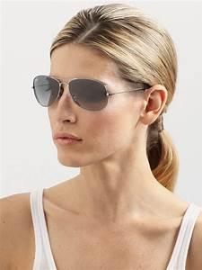 ban cockpit classic aviator sunglasses in gray lyst
