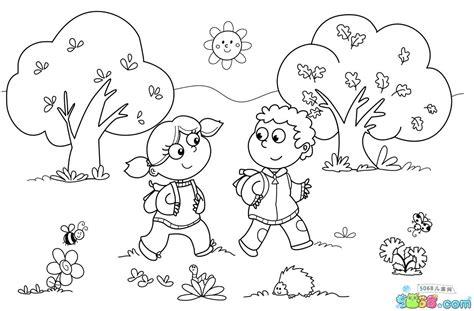 开学了幼儿人物简笔画图片_奔跑网