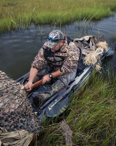 Best Duck Hunting Boat Setup by Kayak Waterfowl Hunter Adam Corry Gets Comfortable In His